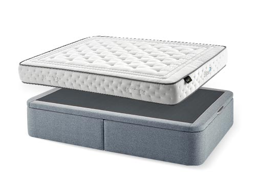 matelas en promotion offres en lits coffre et sommiers maxmatelas. Black Bedroom Furniture Sets. Home Design Ideas