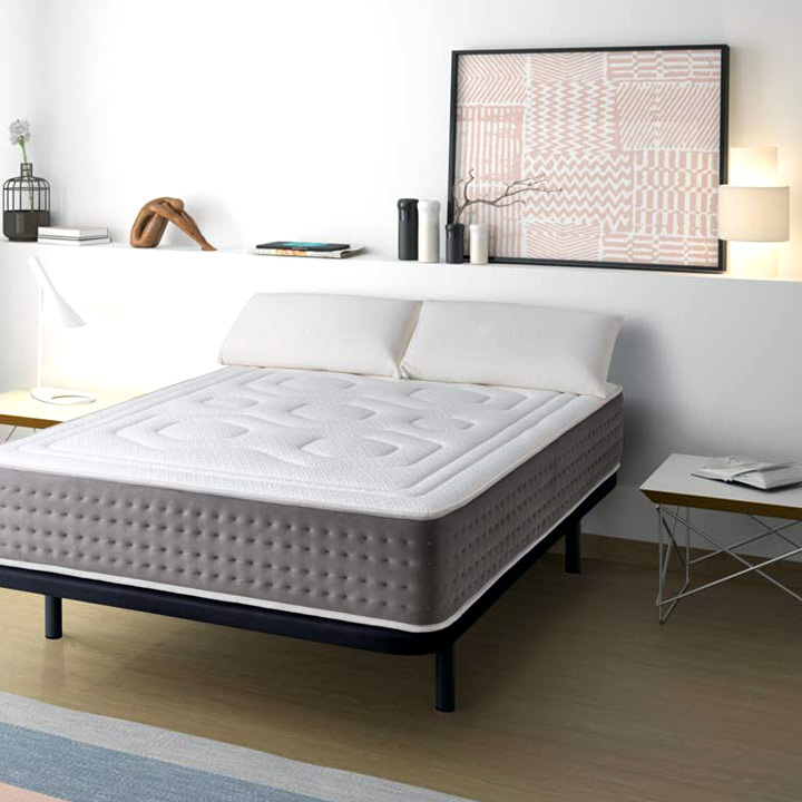 pack matelas luxe graphene sommier tapissier oreiller. Black Bedroom Furniture Sets. Home Design Ideas