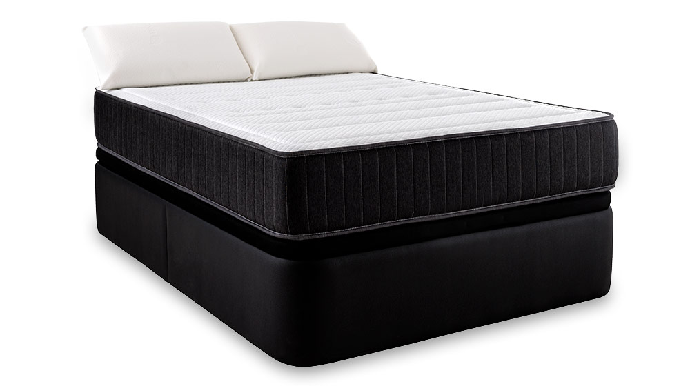 pack matelas confort visco lit coffre oreiller maxcolchon. Black Bedroom Furniture Sets. Home Design Ideas