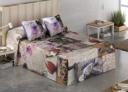 romntica colcha para tu cama