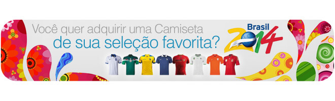 Sorteio Camiseta Copa do Mundo 2014